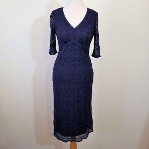 Rabbit Rabbit Rabbit Navy Blue Lace Dress - 6